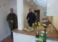 Jason Court with Client Celebrating Finished Kitchen Extension