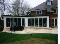 Kitchen Extension with Bi-Fold Doors Leading to New Patio Area