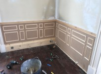 Wooden Panelling Being Fitted in Drawing Room
